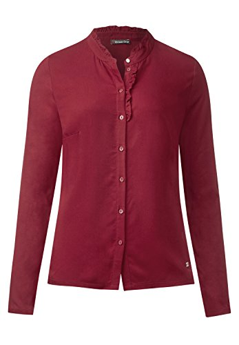 Street One Damen Shirt mit Rüschen Imma vintage red 40