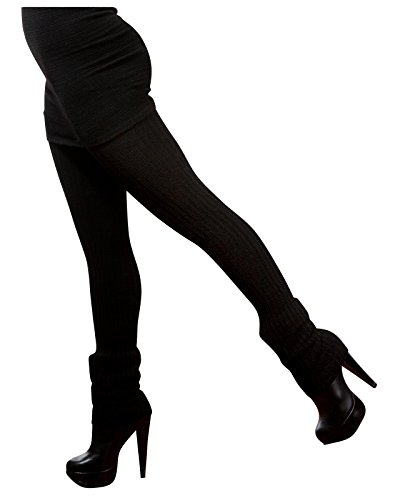 New York Black Sexy Pro Dancer Thigh High 28 Inch Leg Warmers by KD dance Stretch Knit Ethical Sustainably Manufactured Tariff Free in NYC USA ()
