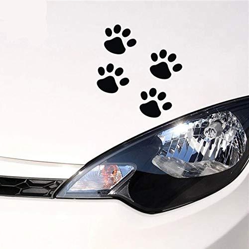 (T-JPCT Car Light Eye Sticker Car car Stickers car car Stickers Personality Funny Stickers Dog paw Print Creative Walking Footprints, red)