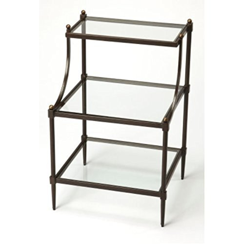 Offex Tiered Transitional Rectangular Side Table