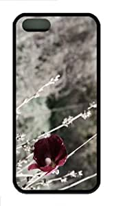 iPhone 5S Customized Unique Old Flower New Fashion TPU Black iPhone 5/5S Cases - Scenery Flowers