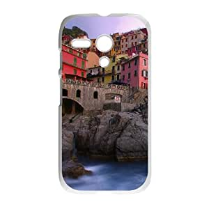 Motorola G Cell Phone Case White Manarola on the Mediterranean GY9041189