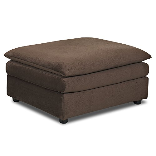 Klaussner Heights Ottoman, Chocolate - Klaussner Home Furniture