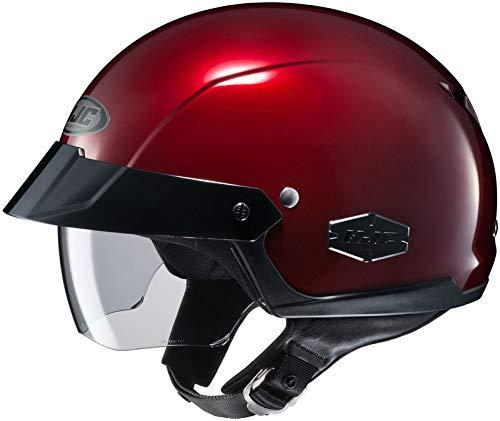 HJC IS-Cruiser Half-Shell Motorcycle Riding Helmet (Wine, Large)