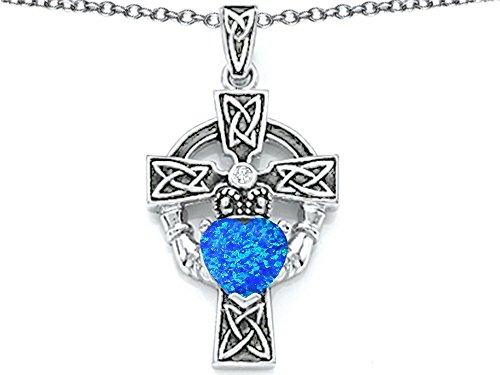 Star K Sterling Silver Heart Claddagh Cross pendant