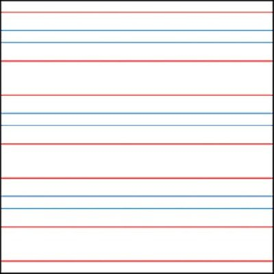 Raised Line Paper Red & Blue Lines Portrait (50 Sheets) by Therapro