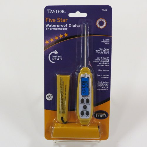 Commercial Antimicrobial - Taylor Precision Products Commercial Anti-Microbial Instant Read Thermometer