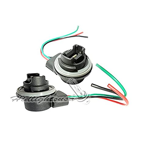 amazon com 3156 3157 wiring harness sockets for led bulbs turn amazon com 3156 3157 wiring harness sockets for led bulbs turn signal lights brake lights automotive