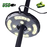 CHINLY Patio Umbrella Lights Warm White 24LEDs 3 Level Dimming Modes - Battery/USB Operated,Umbrella Pole Light for Patio Umbrellas, Outdoor Use, Or Camping Tents (Warm White)