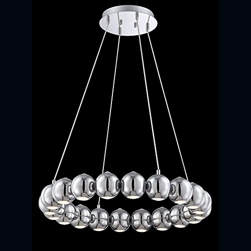 (Eurofase 26235-011 Pearla 20-Light LED Chandelier, Chrome)