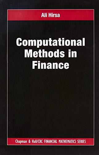Computational Methods in Finance (Chapman and Hall/CRC Financial Mathematics Series)
