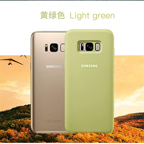 Fitted Cases - Original Silicone Case Cover For Samsung Galaxy S8 S8 Plus S8+ G9550 9500 Ef-pg950 Protection - For Samsung S8 Green - Anti-wear Colors - Jy Galaxie Fire Dollars Galaxi Ronin