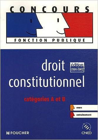 Livre Droit constitutionnel Catégories A et B pdf