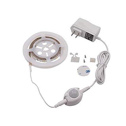 Flexible PIR Motion Activated 60LED Light Sensor Closet Lamp Strip White Good UK