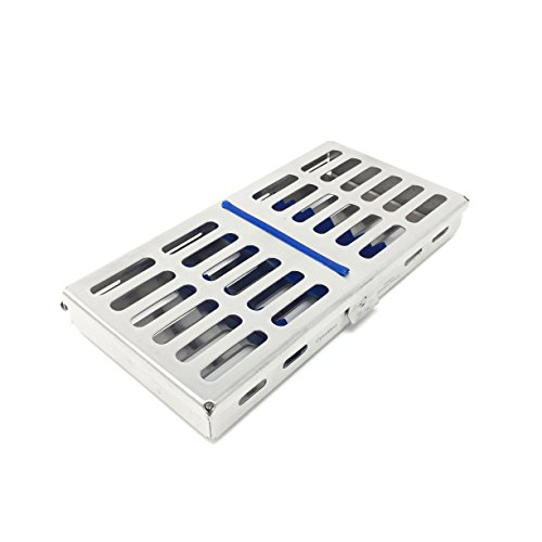 CYNAMED Dental Sterilization Cassette, Autoclave Tray, Rack, Box with Lock, 7-Instruments (Rack Cassette)