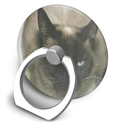 (Cell Phone Holder Siamese Cat Ring Phone Holder Finger Grip Holder for Ipad,Kindle,Phone X/6/6S/7/8/8 Plus/7,Galaxy S9/S9 Plus/S8/S7,Android Smartphone,Divi,Accessories Desk)