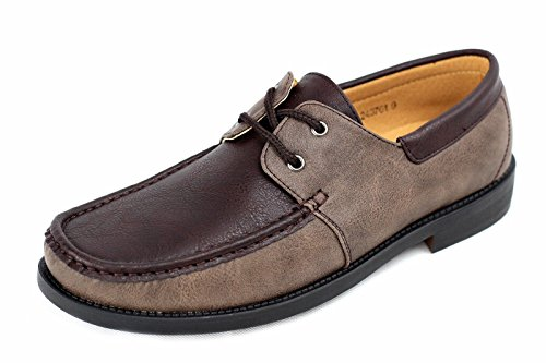 Hombre NUEVO Sin Cordones Zapatos Náuticos Conducción Mocasin Estilo Informal Mocasines Talla eu 34-40 Café/Marrón