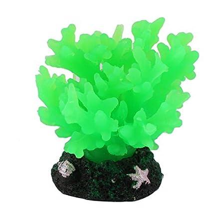 eDealMax Planta peces de acuario tanque Artificial Emulación Coral Agua Weed Verde del ornamento