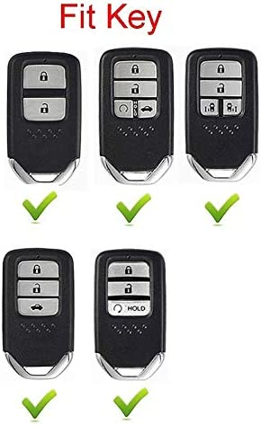 2 3 4 Buttons 3D Bling Smart keyless Entry Remote Key Fob case Cover for Honda Jade HR-V CR-V Accord Crider Vezel Civic Greiz Spirior Elysion Fit City Crosstour Keychain Black TM Royalfox