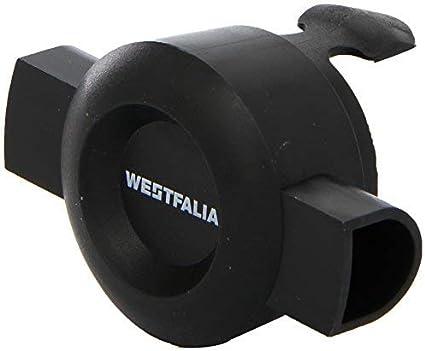 LAS Schutz und Abdeckkappe Anhängerkupplung mit Schlaufe in schwarz