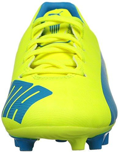 Puma Evospeed 5.4 Fg Jr - Botas de fútbol Unisex Niños Amarillo - Gelb (safety yellow-atomic blue-white 04)