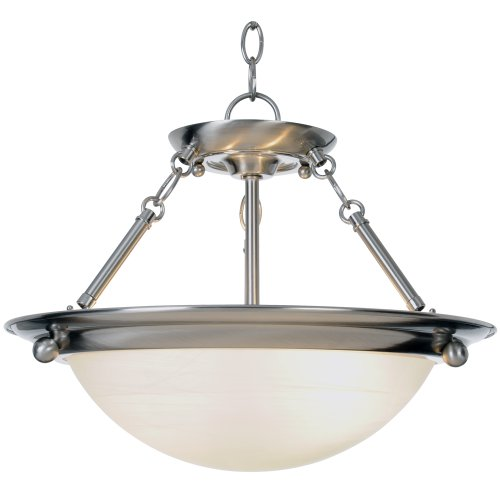 - Monument 560795  Contemporary Pendant, Brushed Nickel, 15-1/2 X 13-1/4 In.