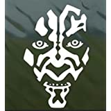 Star Wars Darth Maul Face Decal Vinyl Sticker|Cars Trucks Walls Laptop|WHITE|5.5 In|CCI350