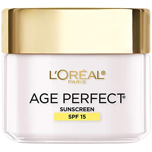 41NTIuaAmmL - L'Oreal Paris Skincare Age Perfect Day Cream, Anti-Aging Face Moisturizer with SPF 15 and Soy Seed Proteins, 2.5 oz.