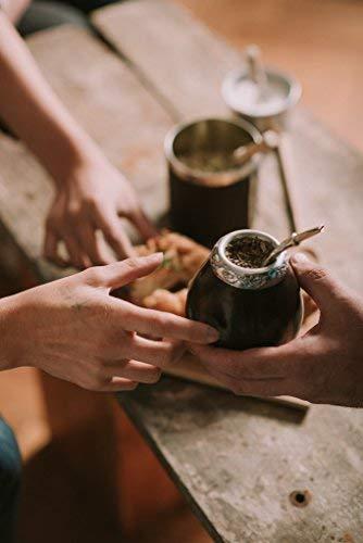 Balibetov [Nuevo] mate Argentino - set de mate de calabaza natural hecho a mano - con bombilla (sorbete) para yerba mate (Natural): Amazon.es: Hogar
