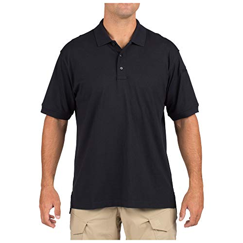 (5.11 Tactical Men's Jersey Knit Short Sleeve Polo Shirt, Wrinkle Resistant Cotton, Style 71182)