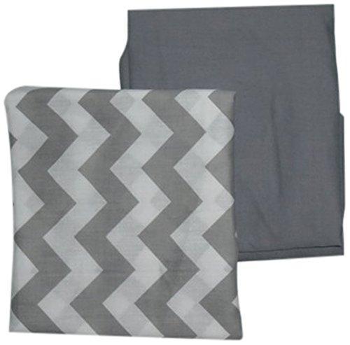 BabyDoll Chevron and Solid Crib Sheets, Grey baby doll beddin; crib sheets 705sh2
