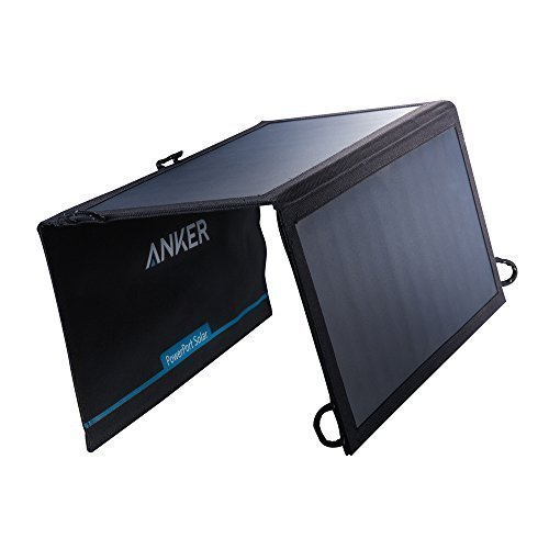 Anker 15W Dual USB Solar Charger, PowerPort Solar for iPhone 7 / 6s / Plus, iPad Pro / Air 2 / mini, Galaxy S7 / S6 / Edge / Plus, Note 5 / 4, LG, Nexus, HTC and More (Backpacking Solar Panel compare prices)