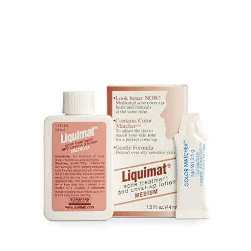 Liquimat Acne Treatment and Cover-Up Lotion, Medium, 1.5 Ounce ()