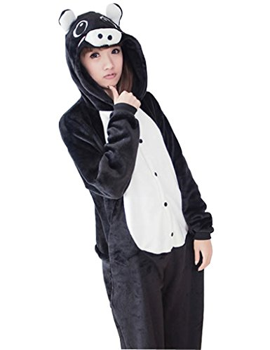 UDreamTime Halloween Costume Party Pijama Kigurumi Cosplay Onesie Negro Cerdo