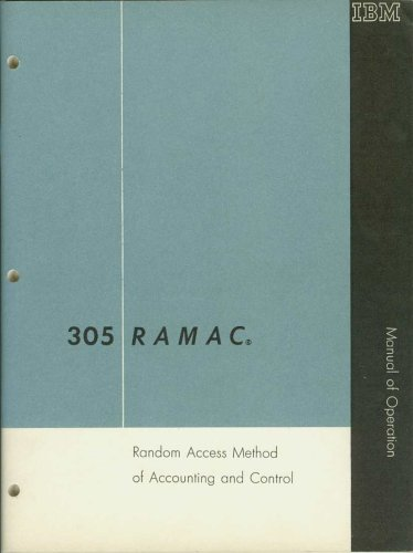 305 RAMAC: Random Access Method of Accounting and Control - Manual of Operation ()