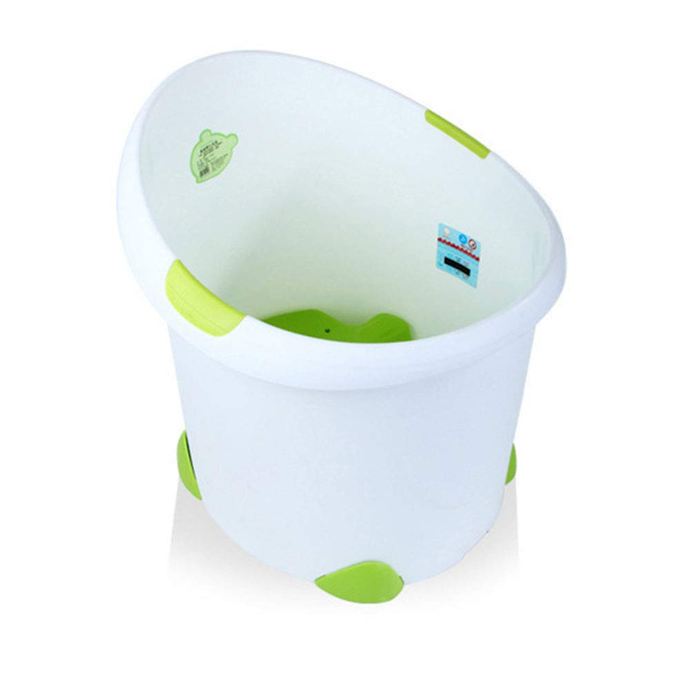 Cxmm Baby Bath, Baby's Swimming Pool Fixed Double Suction Cup Design Anti-Floating Detachable Non-Slip Large Capacity 8 Months to 10 Years Old,Green