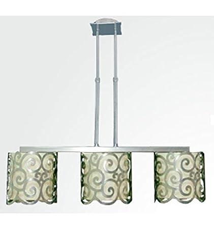 Forja Hispalense Lámpara de Techo en Hierro Eses 3 Luces ...