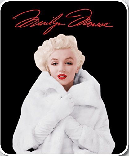 (JPI Marilyn Monroe Signature Collection Super Soft Plush Queen Size Blanket - Fur Coat)