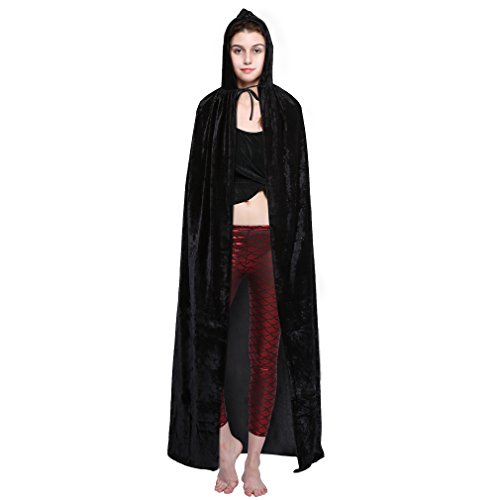 70's Show Costumes (Halloween Hooded Cloak Cape Costumes Witch Suit for Party Christmas 70