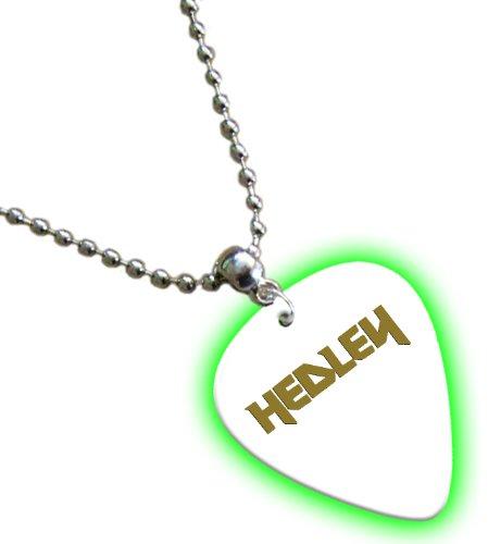 Hedley Hot Foil on White Glow Pick Collier Médiator