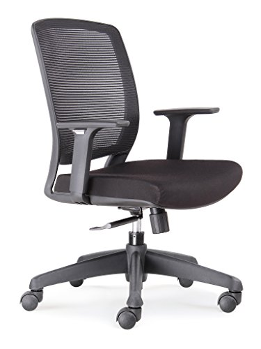41NTLsSzbsL - CHAIRLIN-Mid-Back-Modern-Ergonomic-Mesh-fabric-Executive-Office-Chair-a-Cute-Durable-Comfortable-Home-Computer-Gaming-Desk-Chair-with-Lower-Back-Lumbar-support-and-Adjustable-Arms-Black