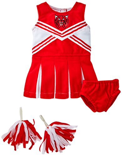 Unique Doll Costume (Unique Doll Clothing Doll Red and White Cheerleader Outfit for 18