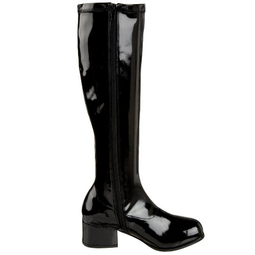 Stretch Pleaser Retro Funtasma Patent 300 Black Boot Women's by 6wq50Z
