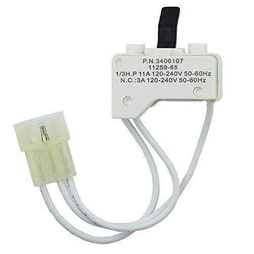 whirlpool door switch 3406107 - 9