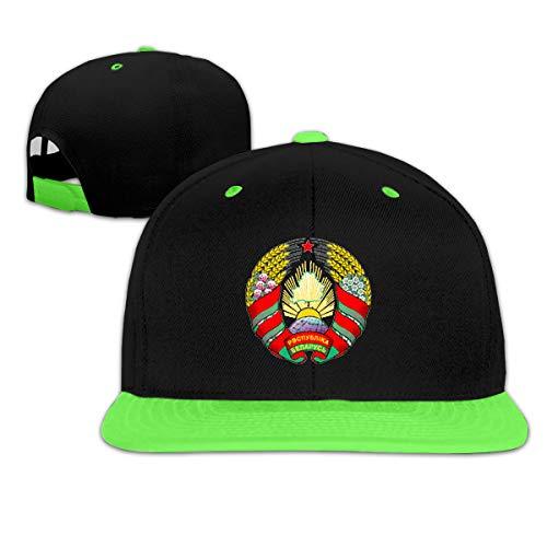 - Childaren Coat of Arms of Belarus Outdoor Hip Hop Trucker Cotton Snapback Cap Adjustable Green