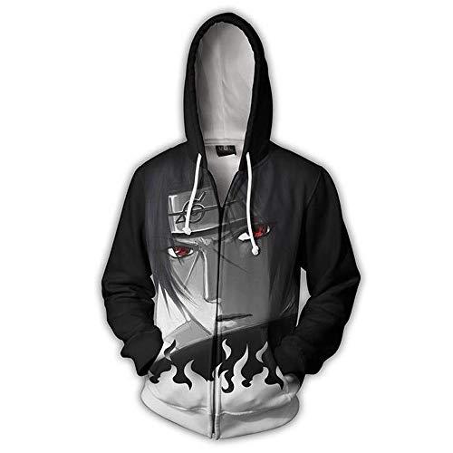 - Naruto Sweater/Naruto Jacket Hooded School Uniform/Cosplay Naruto Casual Hoodie - 3D Pullover Apparel (Gray, 2XL)