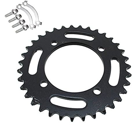 TC-Motor 420 76mm 35 Tooth Rear Chain Sprocket For Chinese 50cc 70cc 90cc 110cc 125cc 140cc 150cc 160cc 170cc 190cc Pit Dirt Bike Apollo IMR CRF50 SSR GPX YCF Kayo Thumpstar Taotao Coolste Lifan (Ssr Pit Bike 70cc)