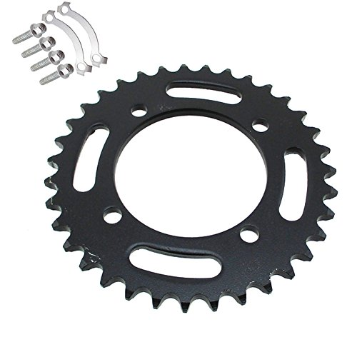 TC-Motor 420 76mm 35 Tooth Rear Chain Sprocket For Chinese 50cc 70cc 90cc 110cc 125cc 140cc 150cc 160cc 170cc 190cc Pit Dirt Bike Apollo IMR CRF50 SSR GPX YCF Kayo Thumpstar Taotao Coolste Lifan YX