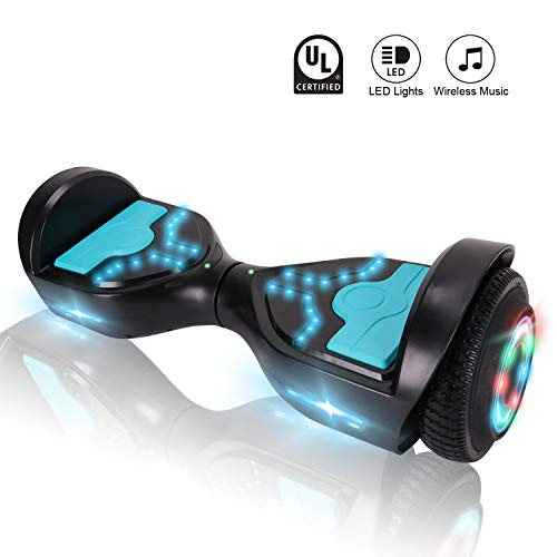 CXMScooter Hoverboard 6.5 inch Self Balancing Scooter with Bluetooth Speaker UL2272 Certified + Carrying Bag Handbag Included