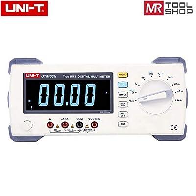 UNI T UT8803N Bench top Digital Multimeter, True RMS DMM EBTN Display,1000V 20A Multi Meter Auto Range 5999Counts,DCV/ACV/DCA/ACA Ohmmeter Inductance Capacitance Temperature Tester